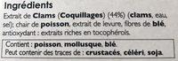Bouillon de Coquillages - Ingredients - fr