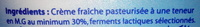 Crème fraîche épaisse - المكونات - fr
