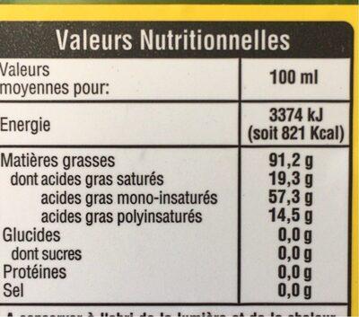 Huile d'olive - Nutrition facts - fr