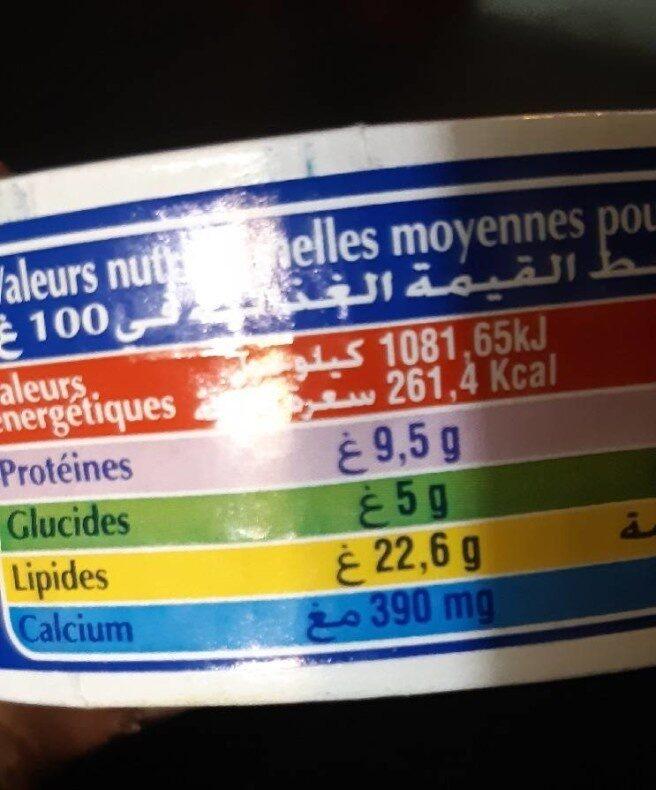 Fromage Fondu Pour Tartine Président - Informations nutritionnelles - fr