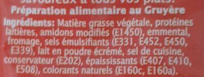 Fromy Gruyère - Ingrédients - en