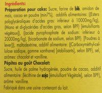 Pound cake chocolat - Ingredients