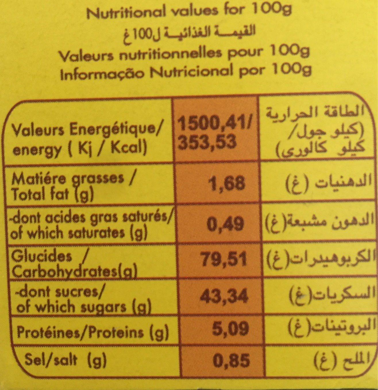 Pound cake chocolat - Nutrition facts
