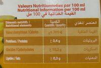 Boisson au jus FRUITS BLANCS - Informations nutritionnelles - fr