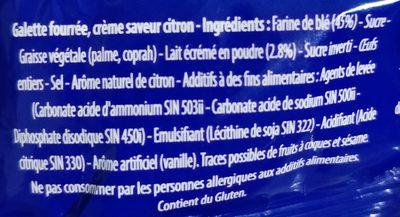 La Galette fourrée - Ingrédients - fr