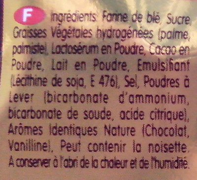 Fourré - Kif - Ingrediënten - fr