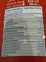 Le Petit Paris - Informations nutritionnelles - fr