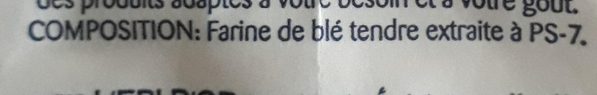 Farine Pâtissière L'epi D'or - المكونات - fr