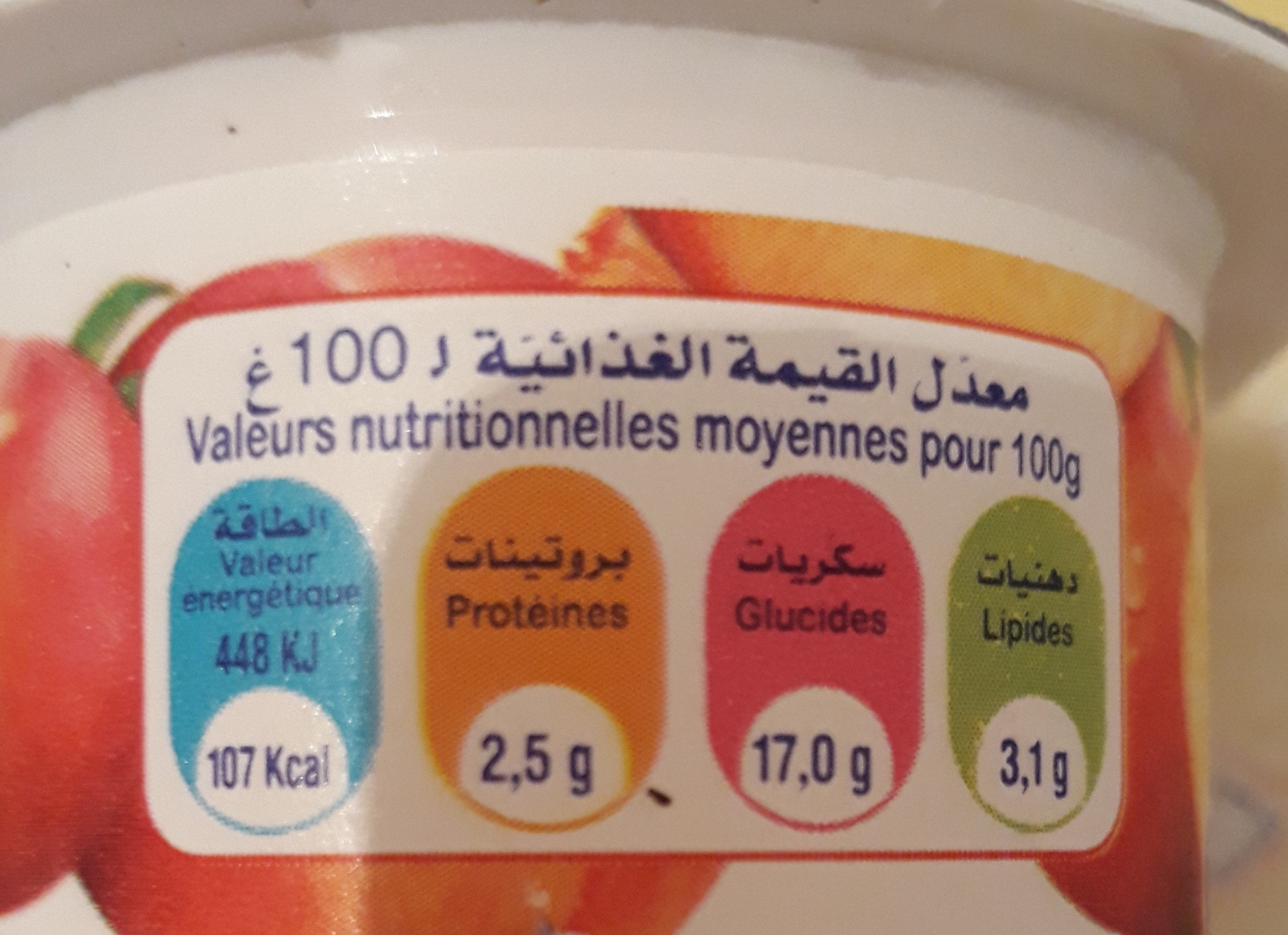 Délice au fruits - Nutrition facts - fr
