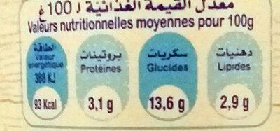 Brassé nature au sucre brun - Nutrition facts - fr