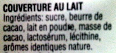 Chocolat de couverture au lait - Ingrédients - fr