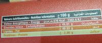 Crème à tartiner Goût Chocolat - Informations nutritionnelles - fr