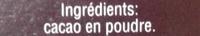 Cacao en poudre - المكونات - fr