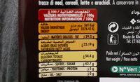 Maestro - Chocolat Extra Fin Noir - حقائق غذائية - fr