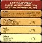 Maestro - Chocolat Noir 72%cacao - حقائق غذائية - fr