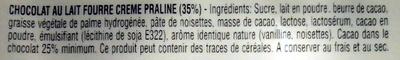 Chocolat Club Praline - Ingrediënten