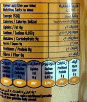 La Pétillante - Informations nutritionnelles