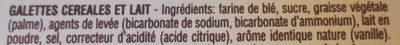 Start - Galettes céréales et lait - المكونات - fr