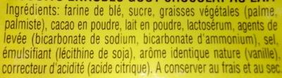 Start - Galettes goût chocolat - Ingredients - fr