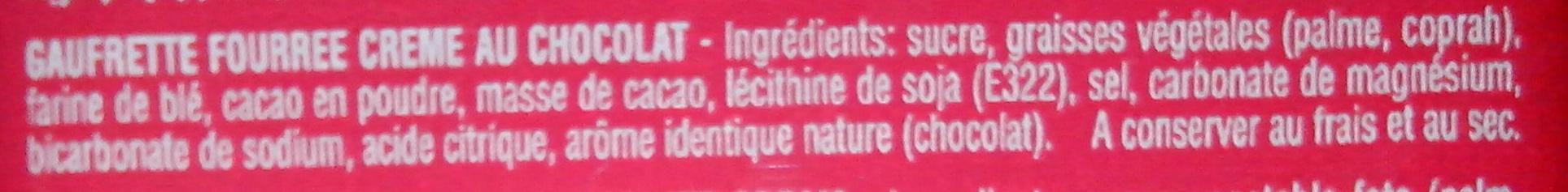 Croustina au Chocolat - المكونات - fr