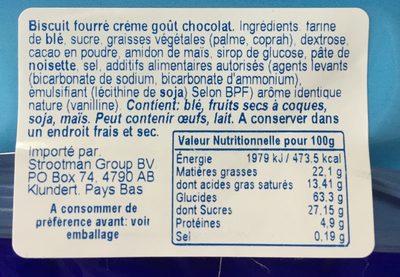 Prince Crème goût Chocolat - Inhaltsstoffe