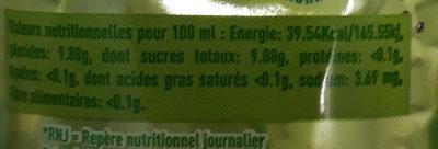Boga Mojito - Informations nutritionnelles - fr