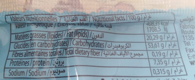 milk cake - Nutrition facts - fr