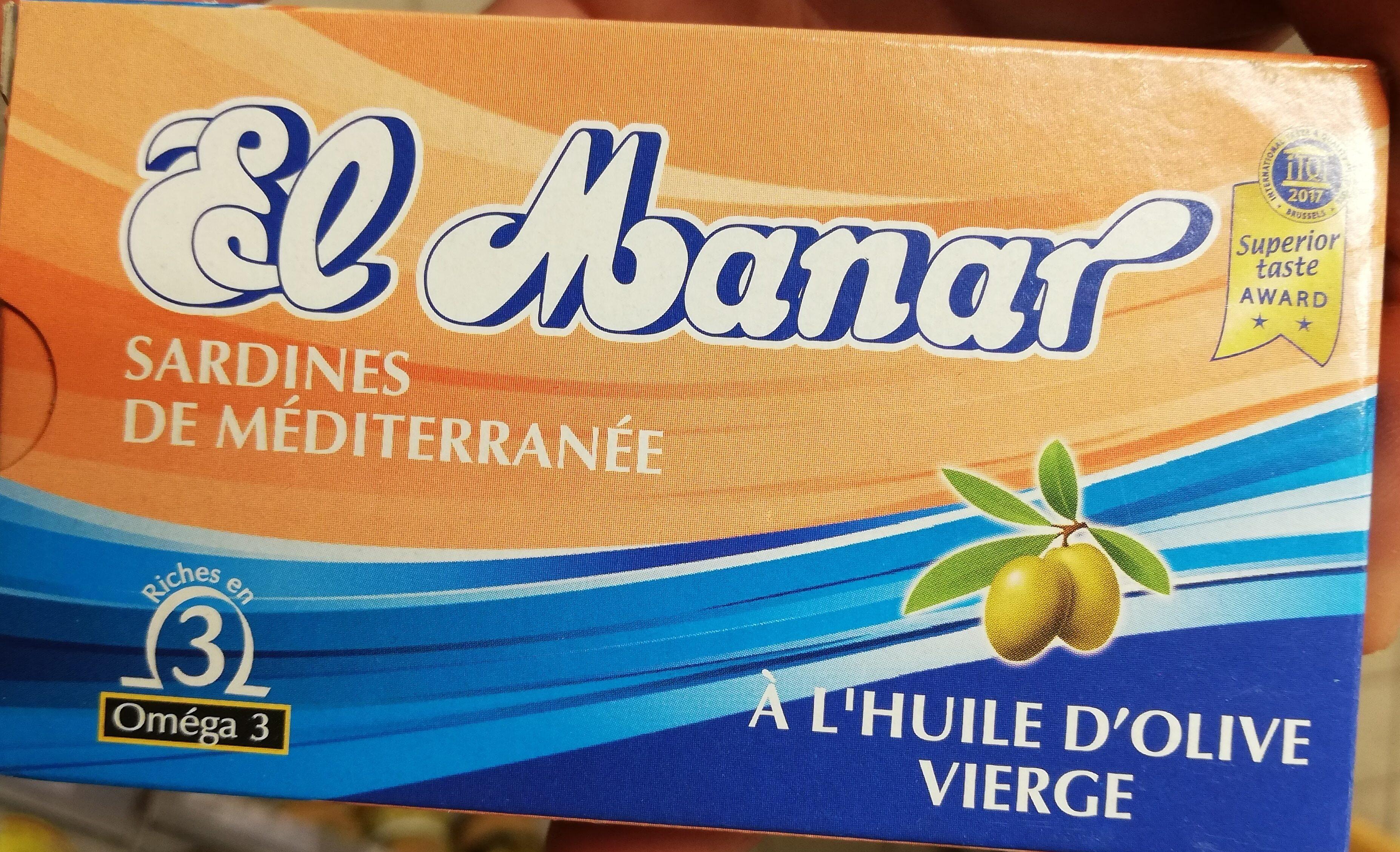 Sardines de méditerranée à l'huile d'olive vierge - Produit - fr