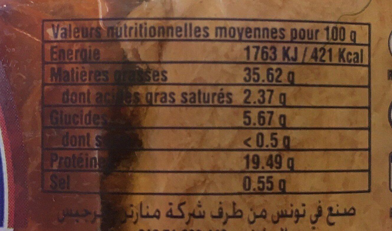 Filets de thon a l'huile d'olive vierge - Voedingswaarden - fr