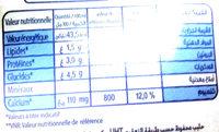 Lait demi-écrémé - Voedingswaarden