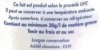 Lait Entier Délice (1L) - المكونات - fr