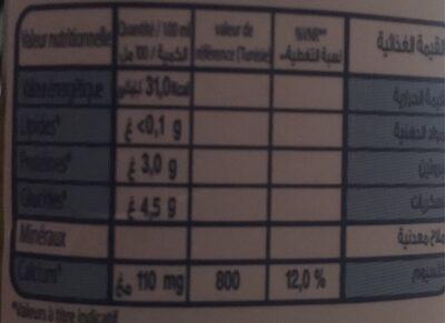Lait écrémé 0% Délice - Informations nutritionnelles - fr