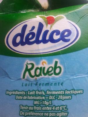 Raieb - المكونات - fr