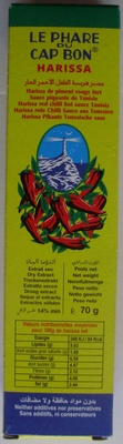 Le Phare Du Cap Bon Harissa red chilli hot sauce - Product