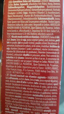 lane ground biscuits - Ingredienti - fr