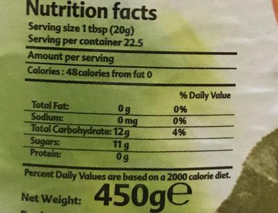 Vitrac Apricot - Informations nutritionnelles - en