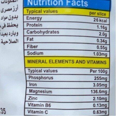 Plain rice cakes - Informations nutritionnelles - fr