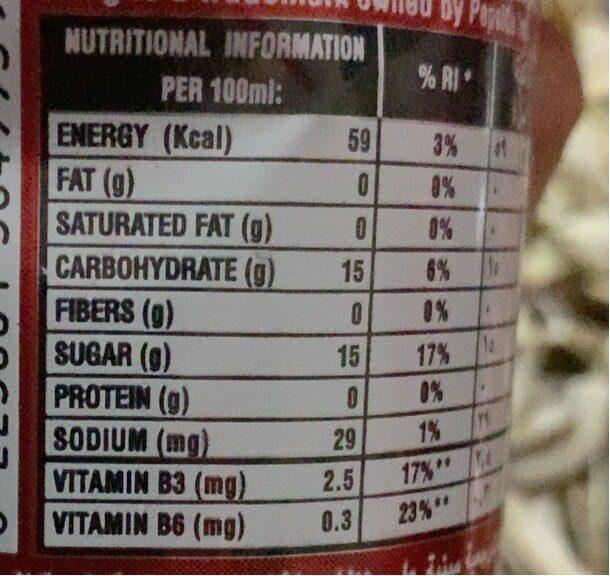 Sting - Informations nutritionnelles - fr