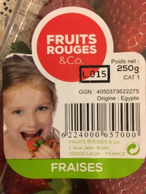 Fraises - Ingrédients - fr