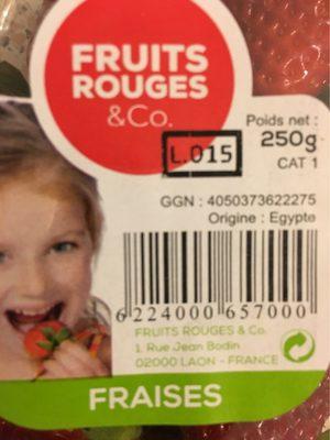 Fraises - Informations nutritionnelles - fr