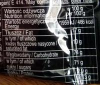 Korsarz - Nutrition facts