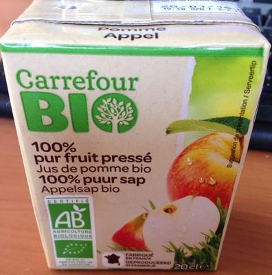 100 pur fruit press jus de pomme bio carrefour 6 x 20 cl. Black Bedroom Furniture Sets. Home Design Ideas
