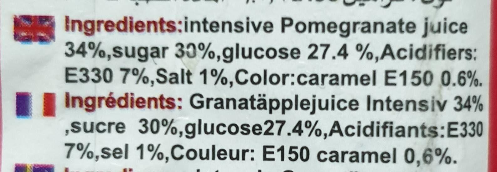Intensive Molasses - Ingrédients