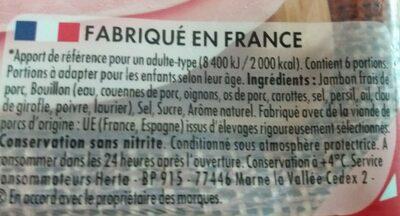 Le bon Paris à l étouffée - Ingrediënten