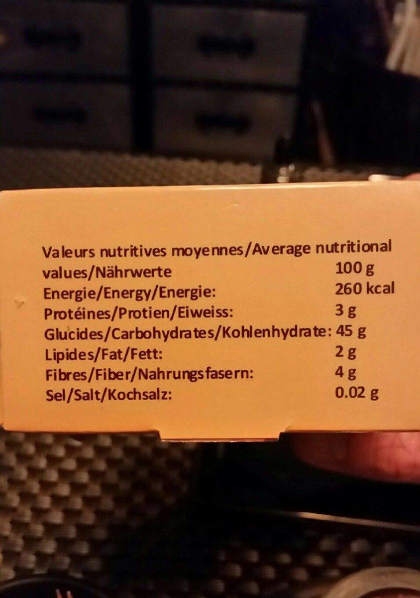 Dattes fraîches bio mazafati - Ingrediënten