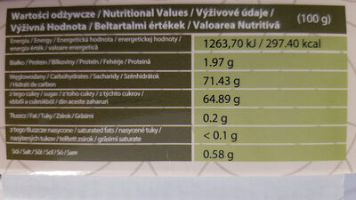 Fresh dates - Nutrition facts - fr