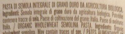 Integrale Penne Rigate No 66 - Ingredienti - it