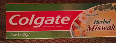 Colgate herbal miswak - Produit - fr