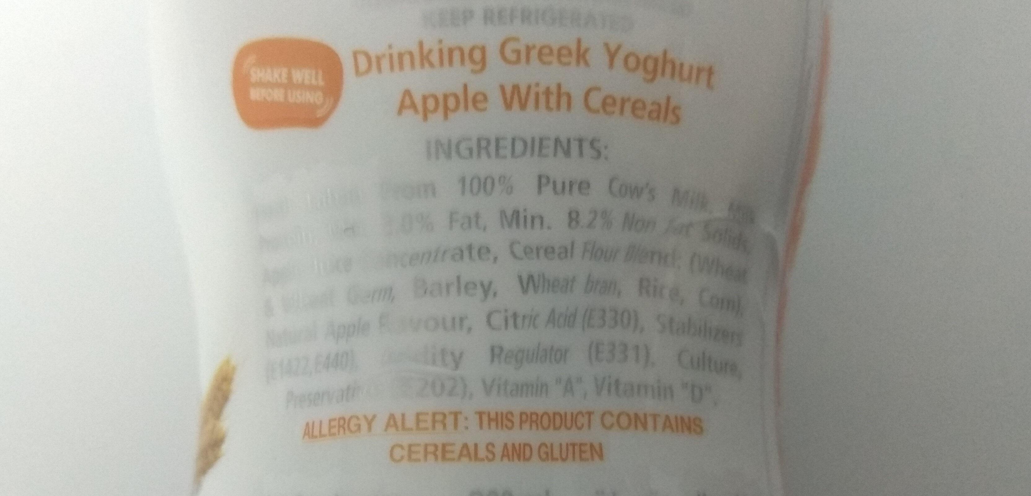 Greek Yoghurt Protein apple with cereals - Ingrediënten