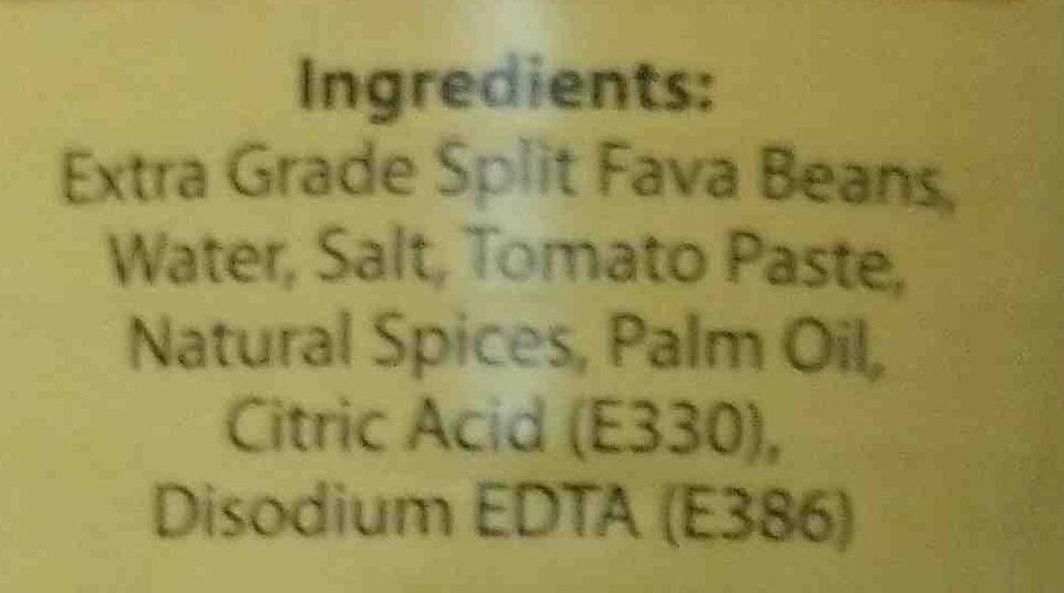 luna peeled foul - Ingredients - en